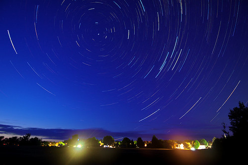 Star trails over Shawville