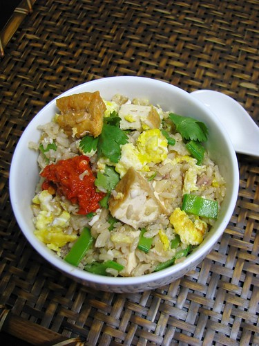 salted fish fried brown rice recipe