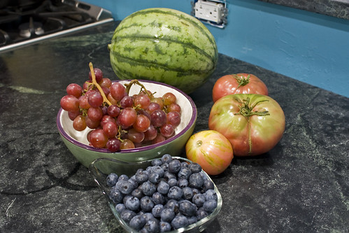 tomatoes grapes watermelon blueberries