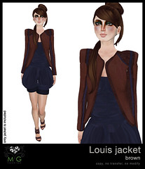 [MG fashion] Louis jacket (brown)