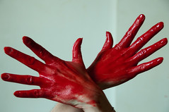 The red hands (metatong) Tags: red color painting rouge blood hands acrylic hand main peinture killer murder dexter sang mains guilty murderer coupable acrylique tueur d300 redpaint meurtre meurtrier peinturerouge