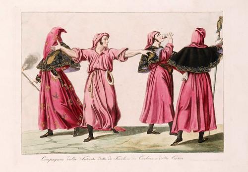 025 Costumi e descrizione delle processioni conosciute in Genova sotto il nome di casacce ricavati da quella di San Giacomo il maggiore delle focine 1828