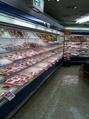 スーパー肉なう
