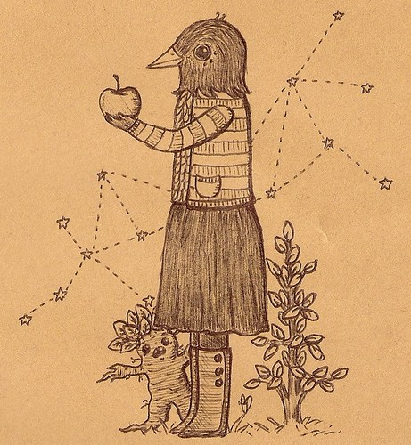 ms. magpie with mandrake friend