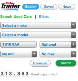 Autotrader search box
