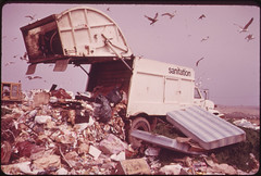 Landfill Operation Is Conducted by the City of New York on the Marshlands of Jamaica Bay. Pollution Hazards and Ecological Damage Have Called Out Strong Opposition 05/1973 (The U.S. National Archives) Tags: newyorkcity newyork queens landfill sanitation springcreek garbagetruck jamaicabay environmentalprotectionagency dsny springcreekpark gatewaynationalrecreationarea documerica newyorkcitydepartmentofsanitation newyorkcitysanitationdepartment usnationalarchives newyorkcitysanitation nara:arcid=547975