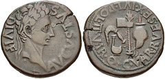 SPAIN, Carthago Nova. Augustus. 27 BC-AD 14.  As (28mm, 15.02 g, 2h). (Joe Geranio) Tags: coin all coins joe julio romanempire courtesy iconography augustus association arthistory romanart texts geranio ancientrome romanemperor romansculpture iconographic classicalart 1stcenturyad pecunia princeps iconographie julioclaudian claudian firstcenturyad julioclaudiandynasty bildnisse joegeranio romannumismatics celator earlyromanempire romaresurgens julioclaudianiconographicassociation julioclaudianportraitstudyromanbust ancientromanimages cngcoinscom