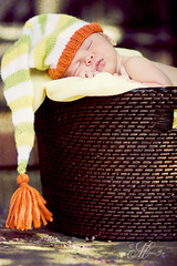 Welcome Home (mjmatt) Tags: hat outside basket newborn 85mm18