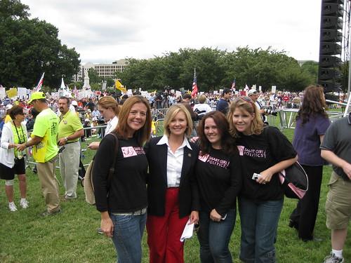 Rebecca Wales, Marsha Blackburn, Me, and Teri Christoph.