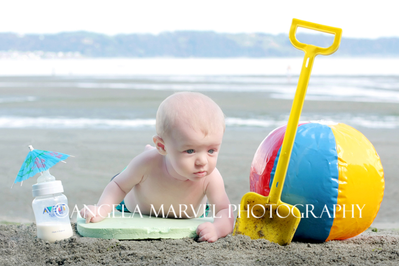 Alex at the beach