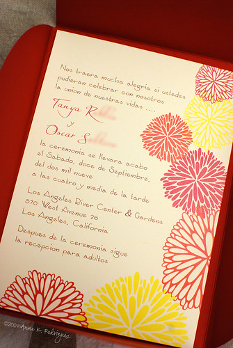 Spanish Invitation text provided by client spanish wedding invitations