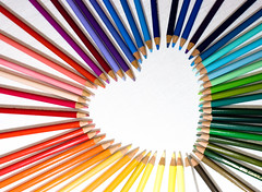 Pencil heart (Maron) Tags: color colour colors pencil pencils pattern colours heart supermarion marionnesje twphch