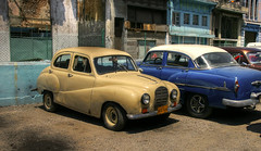 An Austin A40 Somerset and a 50s Chevrolet (mokastet) Tags: old classic cars chevrolet abandoned beautiful car vintage austin flickr antique havana cuba neglected rusty somerset weathered trucks autos  abandonment automobiles decayed a40