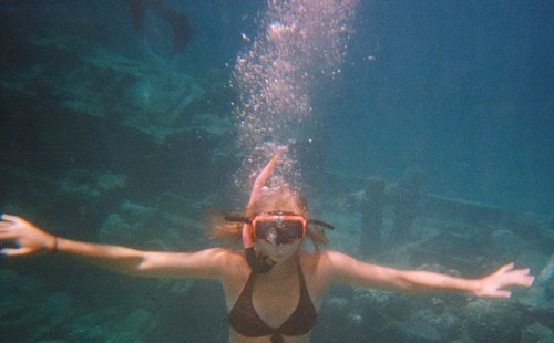 The real deal! Snorkeling in open sea off the coast of Curacao.
