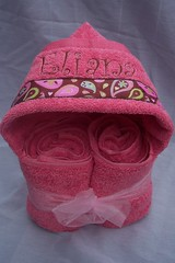 Eliana Pink Hooded Towel (spiritofgiving) Tags: towels custom personalized hooded