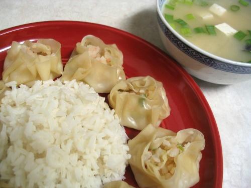 Shrimp Shumai - served