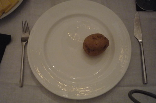 plain boiled potato