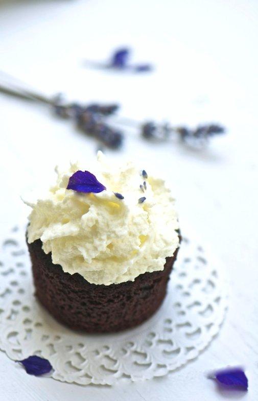 lavender choco cupcake