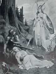 Brunhild and Siegmund by J. Wagrez (Thorskegga) Tags: art illustration book war goddess battle hero viking mythology myth valkyrie pagan norse germanic heathen brunhild asatru brunhilda heathenry siemund