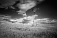 What Was Old Once is New Again (Fort Photo) Tags: blackandwhite nature windmill landscape nikon weld co prairie grassland 2009 grasslands neco d300 pawneenationalgrasslands aermotor silverefexpro