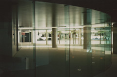 spaces (charlie chocolate) Tags: tower glass office space courtyard perth qv1 olympustrip35perth