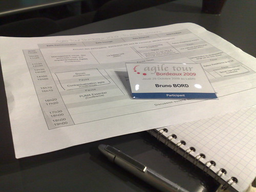 Agile Tour, badge et programme