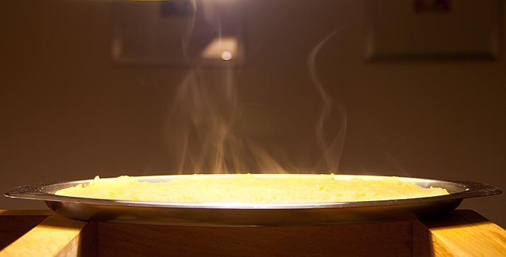 polenta warm