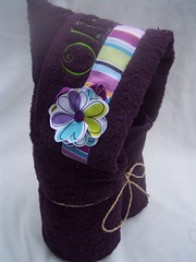 Fabric Flower added to Purple (spiritofgiving) Tags: towels custom personalized hooded