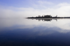 Cook Island (Billy Wilson Photography) Tags: morning autumn sky cloud ontario canada reflection fall nature water clouds digital canon reflections river outdoors island eos rebel day relaxing calming peaceful atmosphere calm xs soo northern saultstemarie northernontario algoma cookisland billywilson