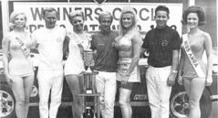 Ronnie Sox and crew enjoy the win and the beauties (torinodave72) Tags: girl june golden nikki phillips f1 linda nascar firebird marsha miss vaughn pure bennett cochran shifter hurst nhra usac ahra