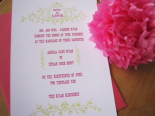 luckyinlove- vintage/western wedding invitations