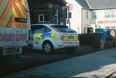 South Yorkshire Police vehicles at Goldthorpe Police Station 7 November 2009 (IslandYorkie) Tags: fordescort southyorkshire policecars emergencyservices policevehicles ldvconvoy goldthorpe southyorkshirepolice yn54ltf yn56gno