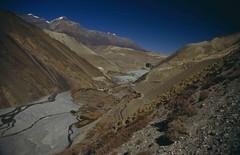 Jomsom Trek, view on Kagbeni and Mustang (blauepics) Tags: nepal mountains nature trekking landscape rocks asia earth kali natur berge valley mustang himalaya circuit landschaft annapurna tal felsen gandaki earthasia visipix