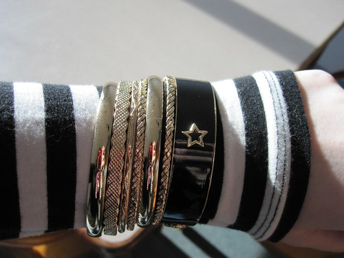 gold and black enamel bangles forever 21
