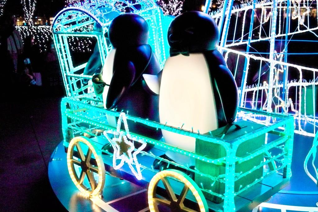 JRビル前のペンギンのイルミネーション#4