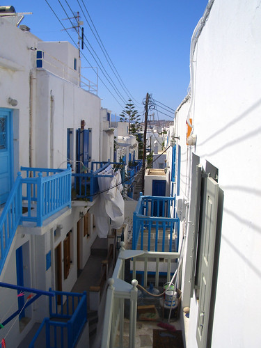 View from my hotel balcony in Mykonos