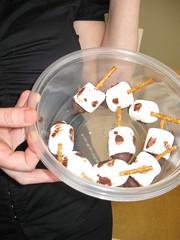 Hanukkah dreidel marshmallow candy