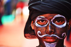 a participant (foxybagga) Tags: face painting facepainting abstractface anawesomeshot krishlikesit pinjorefestival pinjorechandigarh facepaintingyoungboy