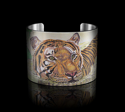 "Tattooed Steel- Lisa Elier- ""Beauty in the Beast"" Cuff by Tattooed Steel"