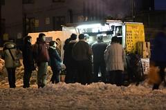 BBQ in the snow (ctownjb) Tags: street new york city nyc bridge food snow les chinatown manhattan side bbq east v