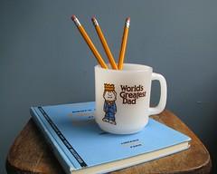 Vintage Glasbake World's Greatest Dad Mug. Paula Co. 1978 (buppins) Tags: vintage dad day paula mug co crown fathers glasbake buppins
