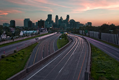 Pink Sunrise Over Minneapolis (zpgoodell) Tags: longexposure bridge pink sunset urban minnesota architecture sunrise nikon midwest exposure purple traffic stpaul minneapolis overpass walkway rushhour wellsfargo d200 twincities pinksky mn idstower downtownminneapolis awesomeshot minneapolisart minneapolissunset aplusphoto minneapolisbridge urbanminneapolis bestplacetolive minneapolisbuildings traffictraillong photosofminneapolis twincitiesskyline minneapolisskylinephotos downtownminneapolisphotos minneapolissunrise twincitiesphotos minneapolisphoto twincitiesart photographytwincitiessunseti35w