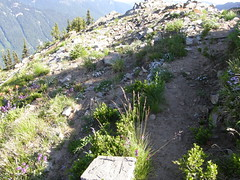 Old Lookout site Crystal Peak just below actual summit. Easy summit boot path goes right