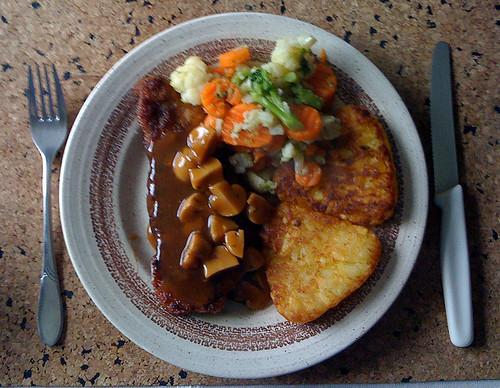 Schnitzel mit Rösti