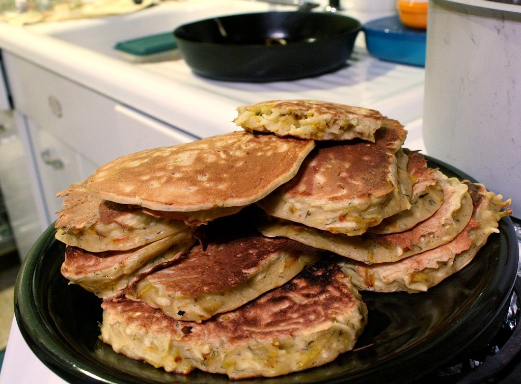 Golden Beet & Harukei Turnip pancakes