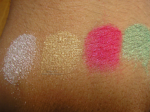 Obsessive Compulsive Cosmetics Iced, Auric, Cherry Bomb, & Clover Pigments