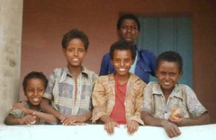 Eritrea, Boys in Window