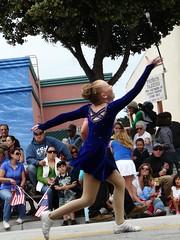 P1210231 (armadil) Tags: parade independenceday independencedayparade july4parade smalltown cheerleader catchingthebaton baton batontwirler 070409