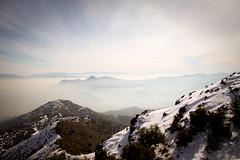 (Antonio Aros D.) Tags: chile santiago canon la smog nieve cerros aire cordillera losandes sucio precordillera 50d cochinada elnaranjo