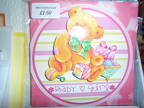 Ref: Card 3 Set 4 (Available) / Baby Girl card / Reduced Price NOW £1.25 (was £1.50)